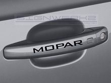 Car Styling for 8Pcs Mopar Door Handle Decal Sticker logo dodge Hemi SS challenger Design #2