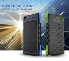 Solar Panel Power Bank Dual Output Powerbank Charger 16000mah Battery Universal Portable High-Capacity External Sun Charger