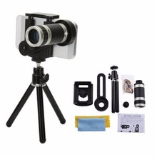 8X Zoom Long-focus Mobile Phone External Lens Universal For Smart Phones Fixed Clip Telescope Camera Lens With Metal Tripod(China)