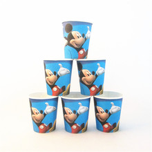 10pcs Mickey Mouse cartoon Paper Cups Party baby shower Degradable Cup Kids Birthday Party Supplies Drinking Glasses Decor