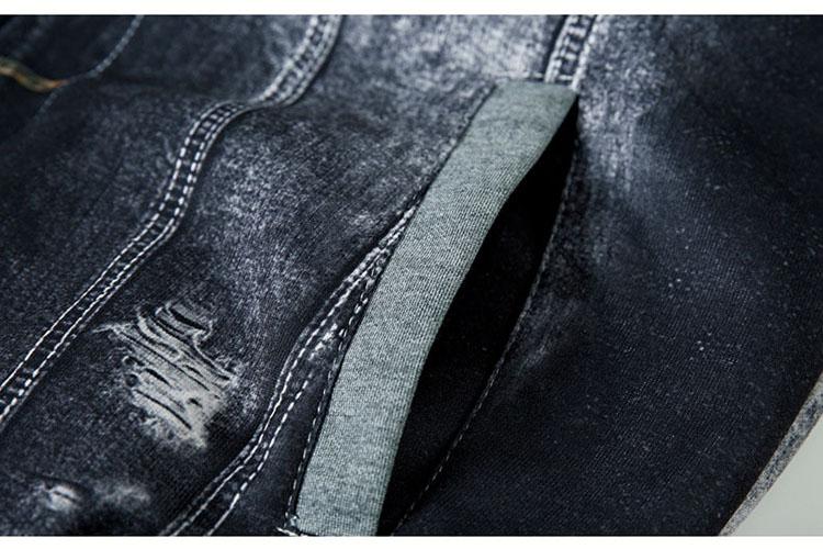 Aolamegs Men Hoodies Warm Fleece Fashion Denim Patchwork Outwear Hip Hop Hooded Sweatshirts Jacket Hoody With Headphone cable (14)