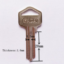 wholesale brass door key blank S type groove blank key locksmith supplies[5pcs/lot](China)
