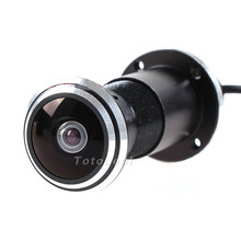 Mini Door Eye Hole Peephole Video Camera 170 Wide Angle CCD Wired Color DOORVIEW CCTV Camera