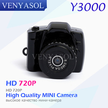 VENYASOL Y3000 720P Portable Mini Camera DV DVR Video HD Micro Digital Recorder Camcorder Spied Camera Small Sport Miniature
