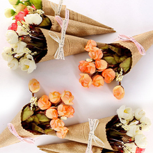 Durable and tough 1 Bouquet Home Decor Fake Flower Brown Paper Rose Artificial Flower Photo Prop