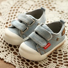 Children shoes 2016 fashion boy soft outsole baby casual shoes child toddler denim non-slip spring autumn Breathable sports shoe(China)