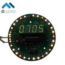 DIY Kit 60 Seconds Rotate Electronic Alarm Clock 172 Components Seconds Show Speed Correction
