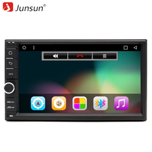 "Junsun Quad Core 7"" 2 Din Android 6.0 Car DVD Radio Multimedia Player 1024*600 Universal GPS Navigation autoradio Stereo Audio"