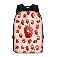 17 inch smiley pattern latest style school backpack youth boys and girls laptop bag can store 15 inch computer