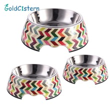 1 pc Pet Feeding Bowl Non-slip Stainless Steel Dog Feeders Multiple Sizes Cat Food Water Bowl Water Food Dish Pet Storage S/M/L(China)