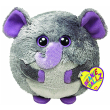 "Ty Beanie Ballz 15"" 38cm Thunder the Elephant Plush Large Stuffed Animal Collectible Soft Big Eyes Doll Toy"