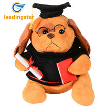 "LeadingStar 8"" Graduation Plush Dog with Cap and Diploma in Hand! Stuffed Puppy Perfect Commencement Gift!"