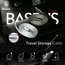 Baseus Foldable USB Cable For iPhone 2.0A Fast Data Sync Charging Charger Cable For iPhone 7 6 6s Plus 5 5s se iPAD Mini Air(China)
