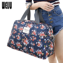 WEIJU 2017 New Fashion Women's Travel Bag Luggage Handbag Floral Print Women Travel Tote Bags Large Capacity Luggage Bags