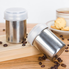 Stainless Steel Chocolate Shaker Cocoa Flour Salt Powder Icing Sugar Cappuccino Coffee Sifter Lid Hot Sale ZH491