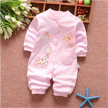 0-12M Newborn Baby Girl Clothes Brand Cotton Striped Long-Sleeved Set for Infant Baby's Boys Clothing Outfit Sports Romper Suit(China)