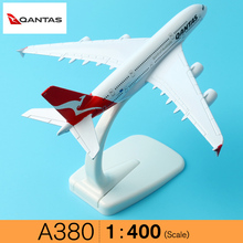 Australia Qantas Airways A380 16cm solid metal alloy airplane models child toy Birthday gift plane models Free Shipping