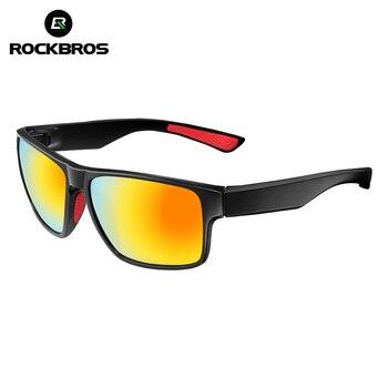 ROCKBROS Polarisées Vélo Lunettes Vélo Équitation Protection Lunettes Conduite Randonnée Sports de Plein Air lunettes de Soleil 4 Colorss