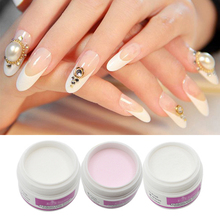 ROSALIND Top Quality Acrylic Powder Crystal Nail Polymer Nail Art Tips Tools Colorful White Clear Pink Color Pick 1(China)