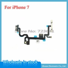 MXHOBIC 10pcs/lot Power ON/OFF Switch Control Flex cable for iphone 7 7G 4.7 Volume Button Flex Replacement Parts(China)