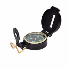 Metal Lensatic Compass Military Camping Hiking Army Style Survival Marching Pointing Guider Luminous Compass 1PC(China)