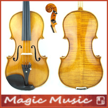 "3/4 Size! Antonio Stradivarius 1714 ""Soil"" Copy 3/4 Master Level Violin #1746, European Spruce & handmade oil varnish"