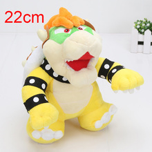 50pcs/lot Super Mario Bowser Plush Stuffed Toy 22cm Bowser Super Mario plush toys Koopa Bowser dragon plush doll(China)