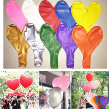 Wedding Balloons 36 Inch Super Large Heart Latex Helium Balloon Inflatable Valentine's Day Wedding Party Decoration Air Balloons