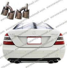 AM end pipes fit for MB C CLS E S SL SLK-class W203 W204 W219 W220 R230 R129 to AM-style end pipes with logo