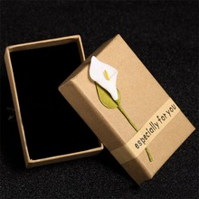 Hot! Fashion Jewelry Necklace Bracelet Earring Gift Box Kraft Paper Valentine Storage Packaging Box Rectangle Universal(China)