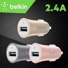 Belkin Premium Universal Mobile Phone 2.4A Quick Car Charger for iPad for iPhone 7 6s Plus for Tablet with Package F8M730(China)