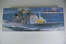 30CM Warship CG-52 USS BUNKER HILL Cruiser Plastic Assembly Model Electric Toy XC80912(China)