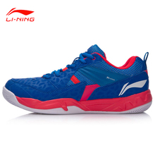 Li-Ning 2017 New Men Badminton Training Shoes Comfort Breathable Wearable Anti-Slip LiNing Sports Shoes Sneakers AYTM079-3H(China)