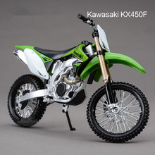 1/12 Scale kawasaki KX450F Diecast Motorcycle Model Diy Assembly motorbike Kids Toys Collections Christmas Gifts