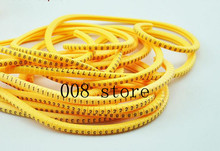 500PCS EC-2 Cable Wire Marker 0 to 9 For Cable Size 4 sqmm Yellow(China)