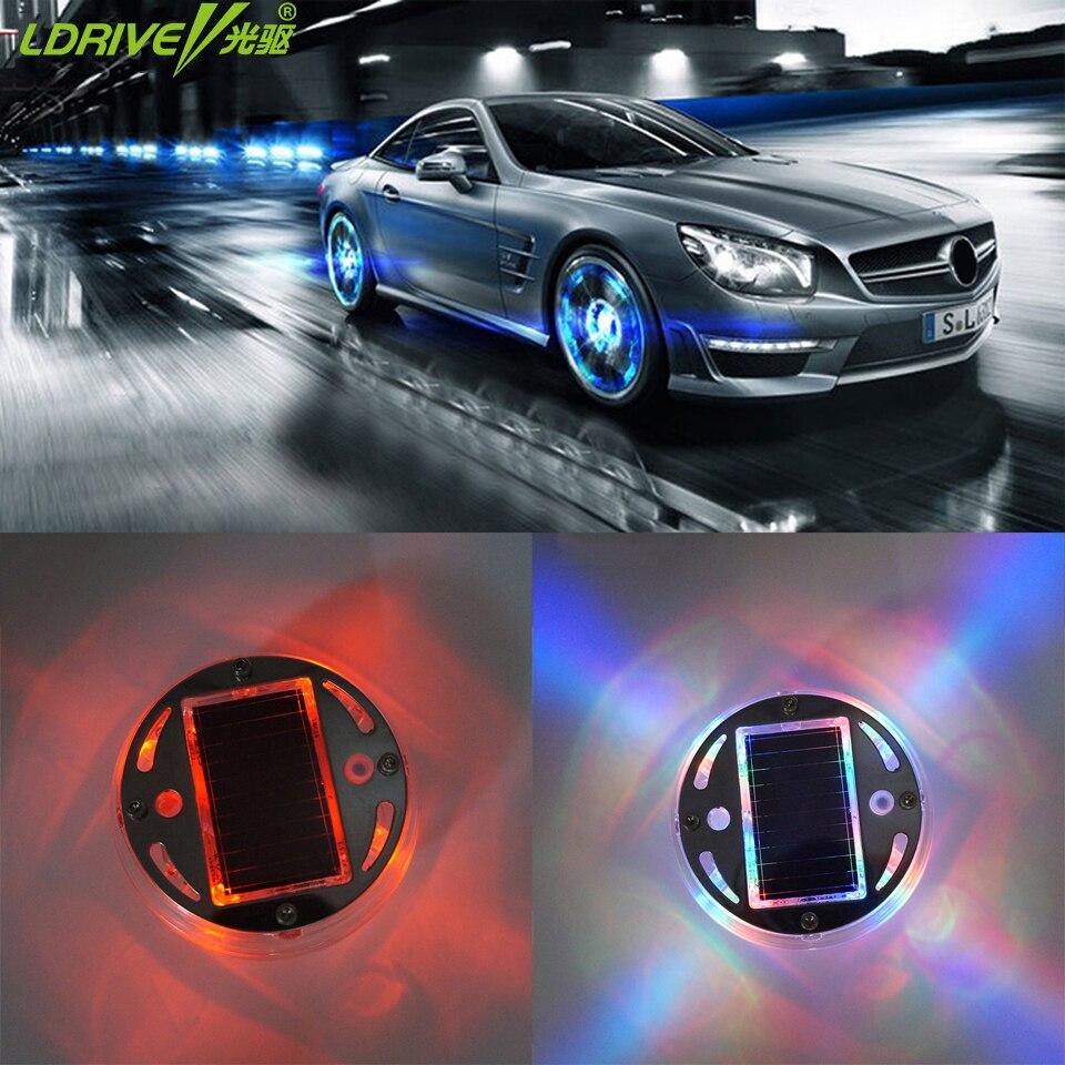 car-styling Universal Car Solar Wheel Decoration RGB Color flash LED lights Wheels Tyre Light for audi bmw e46 vw ford golf kia <br><br>Aliexpress