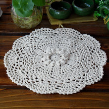 2015 new fashion Round 12 pic/lot cotton crochet napkin as table decor table mat placemat coaster lace doilies for dinnerpad