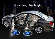 2PC Car styling LED Wireless Car Welcome Door Projector Logo Batman for Hyundai elantra ix35 solaris accent i30 ix25 accessories(China)