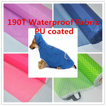 190T Dot Polyester Taffeta Waterproof  Fabric Outdoor  Upholstery Durable Waterproof Furniture Fabric PU Coated 2 Yard