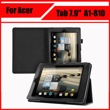 "3 in 1 Wholesale High quality Pu Leather Stand Tablet Cover Case For Acer Iconia Tab 7.9"" A1 810 A1-810 + Screen Film + Stylus(China)"