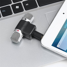 Portable Size Digital Mini Stereo Microphone Mic 3.5mm Mini Jack For PC Laptop Notebook Left and Right Channel Stereo Recording(China)