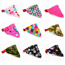 9 Styles Adjustable Dog Collar Puppy Cat Scarf Collar for Dogs Bandana Neckerchief Pet Accessories(China)