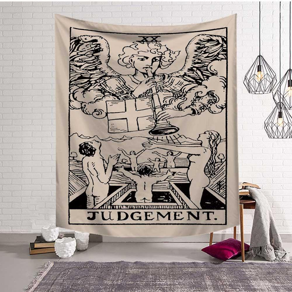 GT8053-10 Mandala Tapestry Wall Hanging Witchcraft Hippie Beach Throw Rug Carpet Sun Moon Tapestries Bohemian Home Art Psychedelic Decor