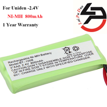 2pcs/lot 2016 new arrival 2.4V 800mAh Ni-MH Cordless Phone Rechargeable Battery For Uniden BT-1008 BT1008 BT-1016 DCX-200 DCX210