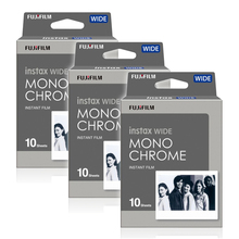 Fujifilm Instax Wide Monochrome Mono Instant Photo 30 Film for Fuji Instax WIDE 100 210 300 Instant Camera(Hong Kong)