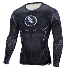 The Flash Black Panther T Shirt Men 3D Printed T-shirts Fitness Compression Shirt Crossfit Long Sleeve Slim Fit Top Tees Shirt(China)