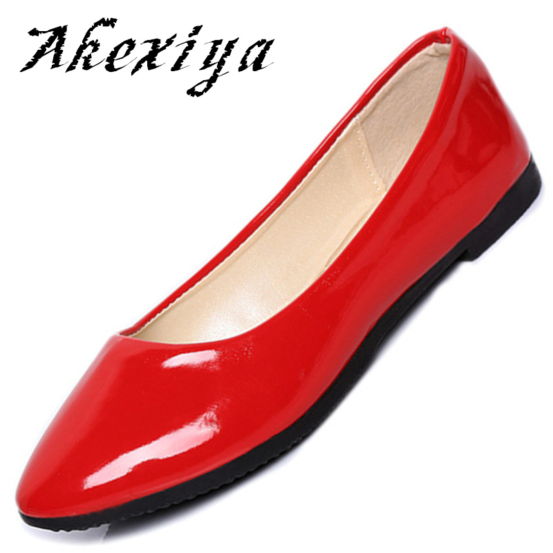 Ladies Shoes Ballet Flats Women Flat Shoes Woman Ballerinas Coat of paint Casual Shoe Sapato Womens Loafers Zapatos Mujer<br><br>Aliexpress