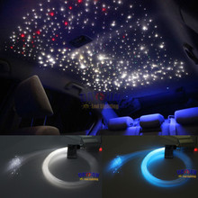 2017 Hot LED Twinkle Ceiling Lights Fiber Optic Star 10W RGBW Lighting Kit 200pcs 0.75mm 2m + RF Remote for Car Roof Decoration(China)