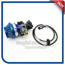 Carburetor & 44mm Air Filter & Adapter Vstack & Fuel Hose & Intake Gasket For 33 43 49 50 52cc Goped Scooter Cat Eye Pocket Bike