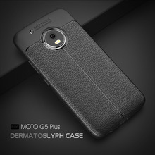 For Motorola G5 Plus Leather TPU Carbon Fiber Cover Matte Case Shockproof Armor matte case For Motorola G5 Plus shell Cover(China)